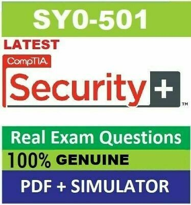 CompTIA Security SY0-501 Real Exam Q&A and VCE simulator