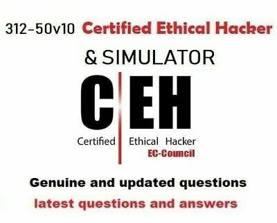 EC-Council Certified Ethical Hacker v10 CEH v10 312-50v10 and simulator