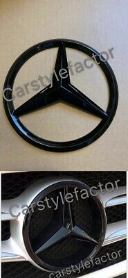 MERCEDES A,C,GLA,GLK,CLA,CLS,E Class FRONT GRILLE STAR BADGE Black (Add On Type)