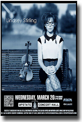 Lindsey Stirling Poster Concert 11x17 - 2013 Tour Ships SAMEDAY from the USA