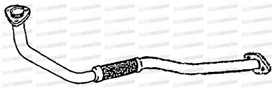 Fits Nissan Terrano Ii 3.0Td Zd30Ddti 4X4 Lwb 02-06 Exhaust Link Pipe Spare Part