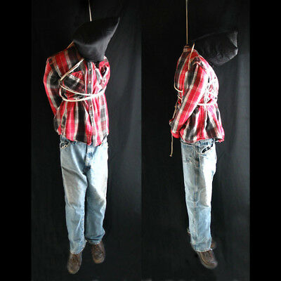 Life-size 6' Hanging Man Scary Zombie Haunted House Halloween Life Size Prop