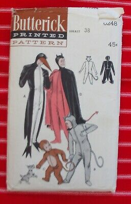BUTTERICK Costume SEW PATTERN #6248 MASQUERADE Adult Child SZ Penguin devil
