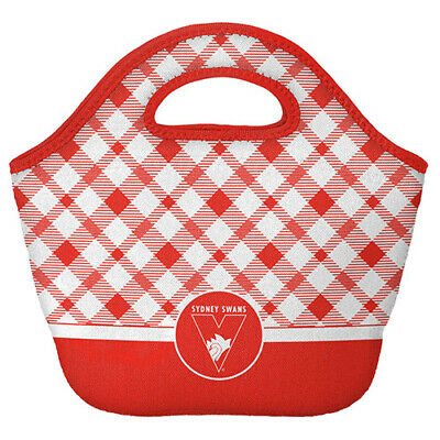 Sydney Swans AFL Neoprene Cooler Shopping Bag Top Pocket with Zip and Handle