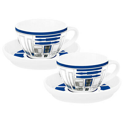 Star Wars R2D2 Set of 2 Porcelain Tea Cups with Saucers Birthday Gift 2020