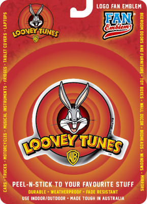 Looney Tunes Logo Domed Automotive Decal Sticker Badge Emblem Christmas Gift