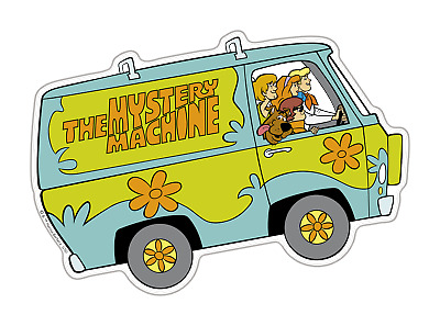 Scooby-Doo Mystery Machine Premium 3D Character Domed Logo Automotive Sticker...