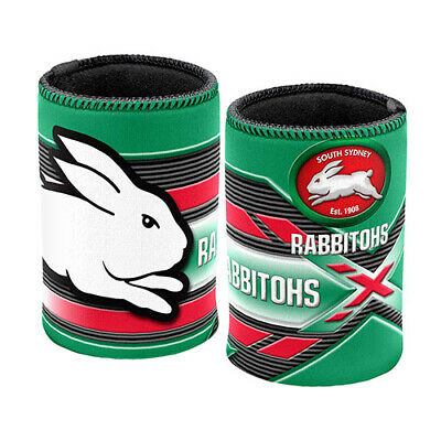 South Sydney Rabbitohs NRL Beer Can Bottle Cooler Stubby Holder Cosy
