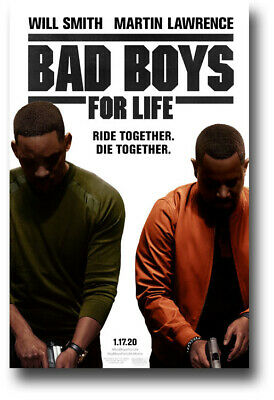 "Bad Boys For Life Poster - 11""x17"" Will Smith Both Wht SameDay Ship from USA"