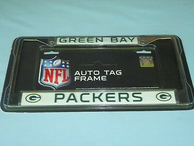 Green Bay Packers  CHROME Auto Tag LICENSE PLATE FRAME  by Rico NIP  w