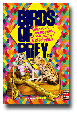 "Harley Quinn Poster Birds Of Prey Movie 11""x17"" Car Jackal SameDay Ship from USA"