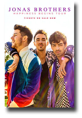 "Jonas Brothers Poster 11""X17"" Happiness Begins Tour Bros SHIPS SAMEDAY FROM USA"