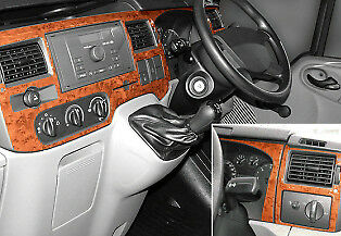 Ford Transit 2006 Up Walnut Wood Dash Trim Kit