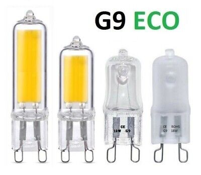 15x G9 Eco Halogen 18w /& 28w Capsule lightbulbs or 240v 25w 40w clear or frosted