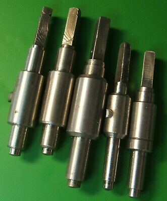 CLOCK PARTS SPARES - ARBOR SHAFT WINDING MAIN SPRING - LOT OF 5pcs -FREE POSTAGE