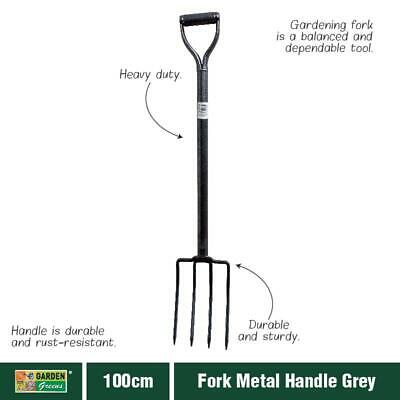 100cm Heavy Duty Fork Camping Outdoor Garden Pointed Metal handle Holding NEW