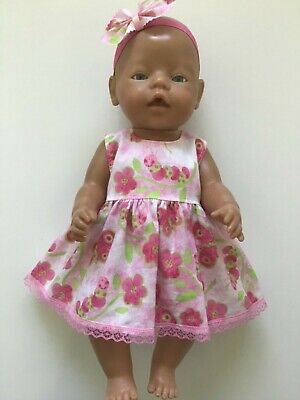 "DOLLS CLOTHES FOR 17"" BABY BORN~CABBAGE PATCH *Butterflies~Dress~Headband*"