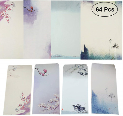 NUIBY 64 Pcs Letter Writing Stationery Paper Letter Set 32 stationery Paper + 32