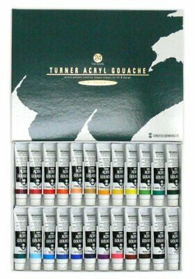 Turner acrylic gouache 24 colors set school japan import by T 71823 fromJAPAN