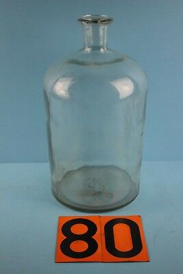 Alter  Glasballon Transparent Ca 5 Liter Nr 80