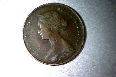 CANADA Nova Scotia 1861 LARGE CENT -  SMALL ROSE VARIETY , XF+      #Q112