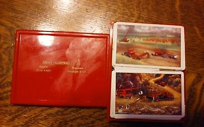Vint Playing Cards 2 Decks W/ Old Earthmovers Boehck Engineering Houston Texas