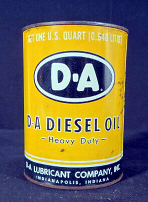 D-A Diesel Oil Heavy Duty Lubricant Co Metal One Quart Can Indianapolis Indiana