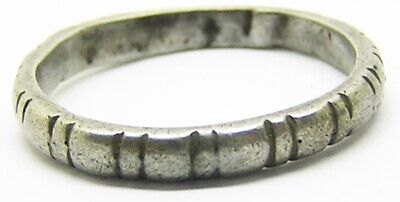 Nice Late Medieval silver finger ring c. 15th - 17th century AD wearable size 9