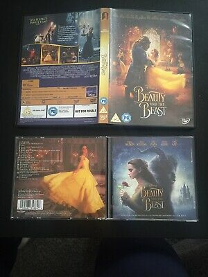 Beauty and The Beast (DVD, 2017) And Original Motion Picture Soundtrack CD