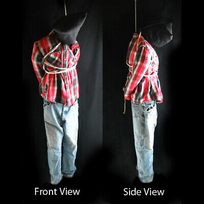 Life-size 6' Hanging Man Scary Zombie Haunted House Halloween Life Size Prop 72""
