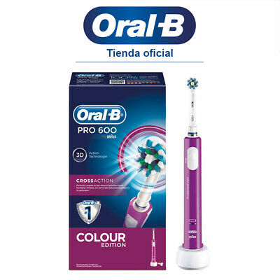 Cepillo de Dientes Eléctrico Recargable Oral-B PRO 600 CrossAction PurpleEdition