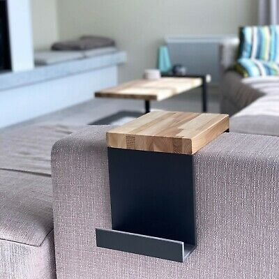 Coffee table, hand-made, wood with steel frame 62 x 100 x 46cm