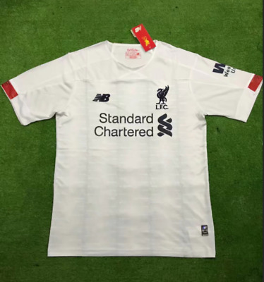 Liverpool White FC Away Football Jersey Shirt White Soccer Tee S-2XL