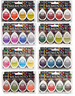 Tsukineko Memento Dew Drops Set - Dye Ink Pads, Drop, Fingerprint Trees Sets