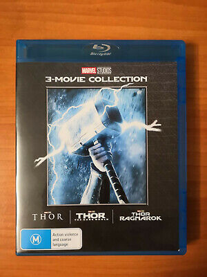 THOR 3-Movie Collection [Blu-ray] 1-3 Complete Trilogy Ragnarok 1 2 3 For US