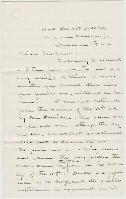 1864 CIVIL WAS SOLDIER LETTER - CEDAR RUN VA - 153rd NY INF. - SUPERB CONTENT