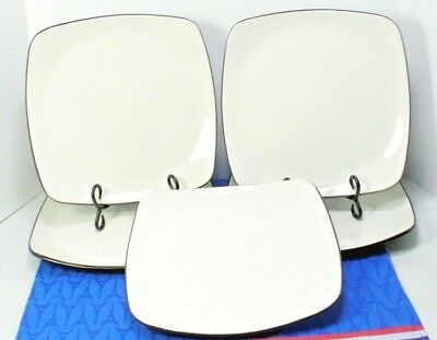 LOT of 5 Corning CORELLE Hearthstone Stoneware Dinner Plates, Royal White EXC!