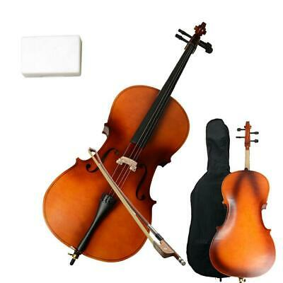 4/4 Professional Natural Wood Color Cello Set with +Bag+Bow+Rosin+Bridge