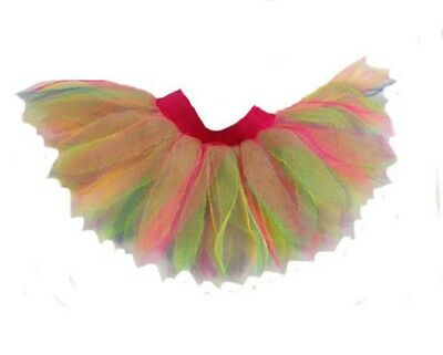 Tutu 6 Layer Skirt Neon Rainbow Multicolored 80S Fancy Dress Hen Party Dance