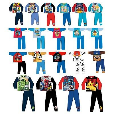 Girls Boys Baby Kids Official  Character Pyjamas PJs Size Age 12 Mths -  5 Yrs