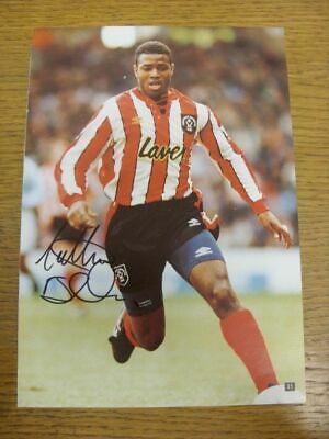 c 1990/00's Autograph(s): Sheffield United - Nathan Blake [Hand Signed Colour Pr