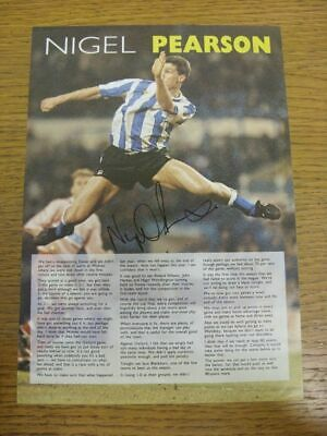 c 1990/00's Autograph(s): Sheffield Wednesday - Nigel Pearson [Hand Signed Colou