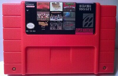 100 in 1 SNES Super Nintendo Multi Cart Game Hagane, Final Fight Guy, Dracula X