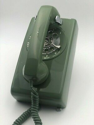NOS Vintage Western Electric BELL System Rotary Telephone GREEN #554-BR-51 w/Box