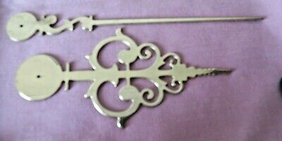 Pair  Antique Clock Hands, Reproduction Pair Polished Brass, Hour Hand 4, 5 Inch