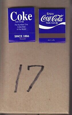 COCA-COLA MATCHES  BOX OF FIFTY  THE #1 COLLECTIBLE In THE WORLD SINCE 1886  #17