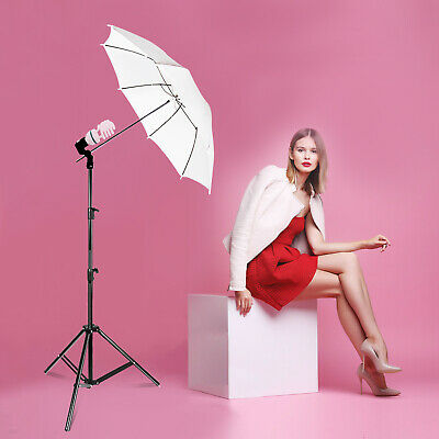 White Umbrella Reflector Photography Stand Lighting Kit for Photo Video Studio