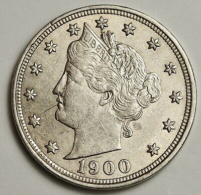 1900 Liberty Nickel.  A.U. Detail.  141080