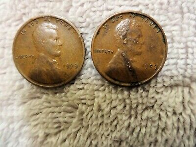 1909 and 1909 VDB Lincoln Wheat Cents - First Year of Issue
