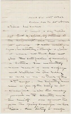 Oct 1864 Civil War Soldier Letter - Cedar Run Va  - Sheridan's Valley Campaign